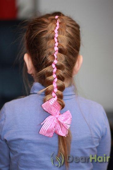 Дитячі зачіски з плетінням і стрічками для маленьких принцес