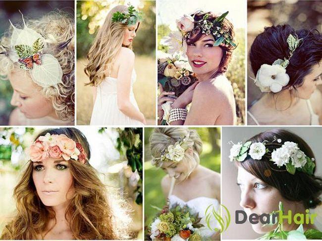 Вишукані весільні зачіски з витонченими квітами