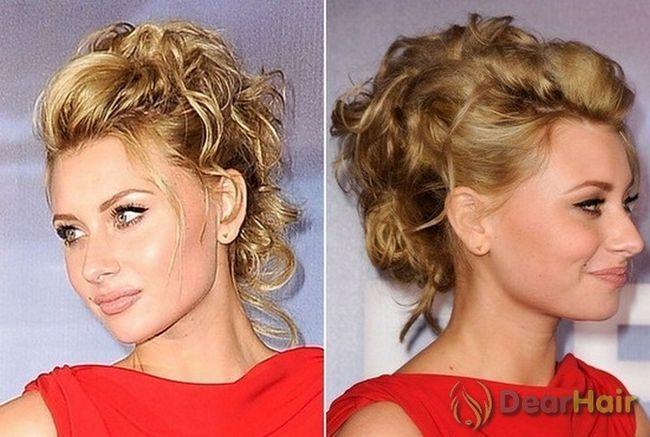 Елегантні середні зачіски на святковий вечір
