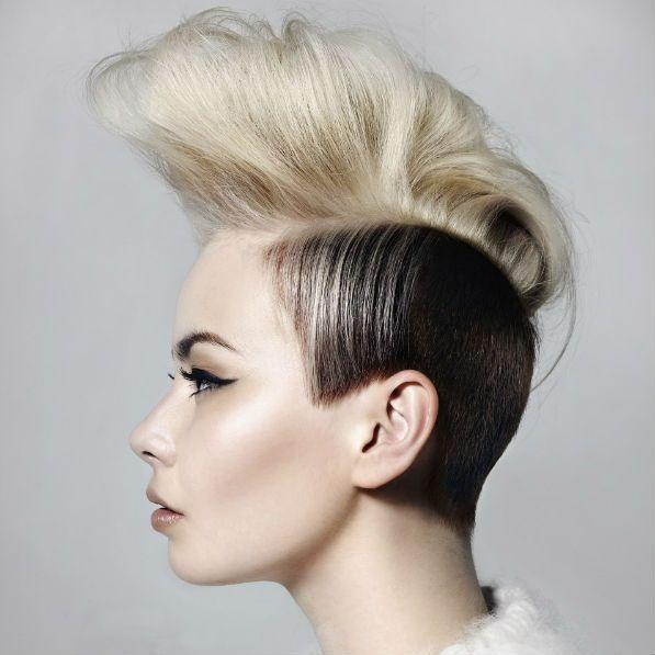 Ірокез на волоссі до плечей фото