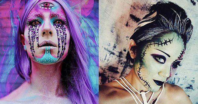 Як зробити макіяж на хеллоуїн 2015. Фотоогляд