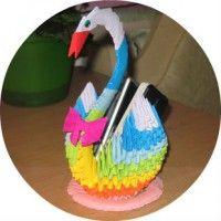 Як зробити модульне орігамі лебедя