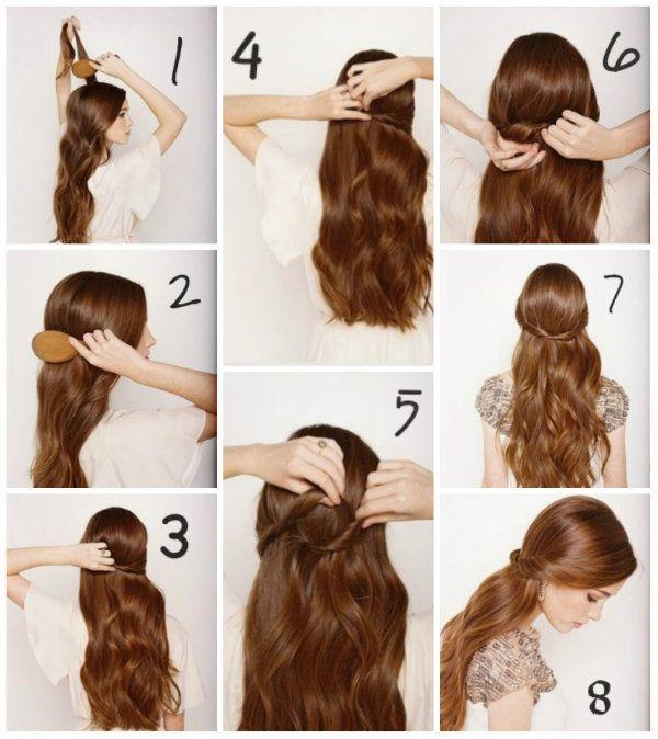 Зачіска на розпущеному волоссі фото