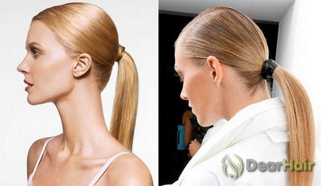 Красива і універсальна зачіска хвіст