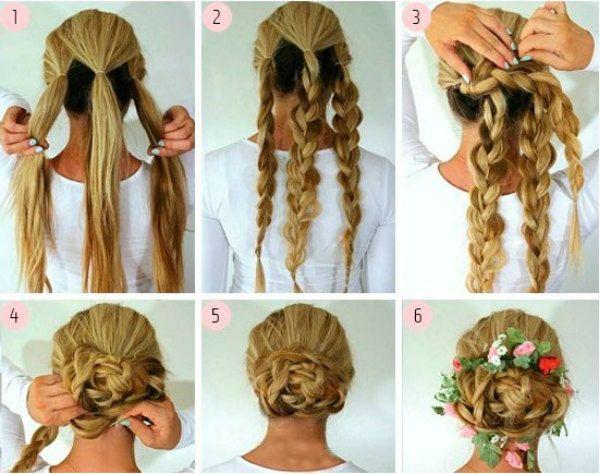 Святкова зачіска з косами фото