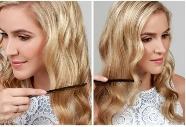 Кудрі набік на середні волосся 2 фото