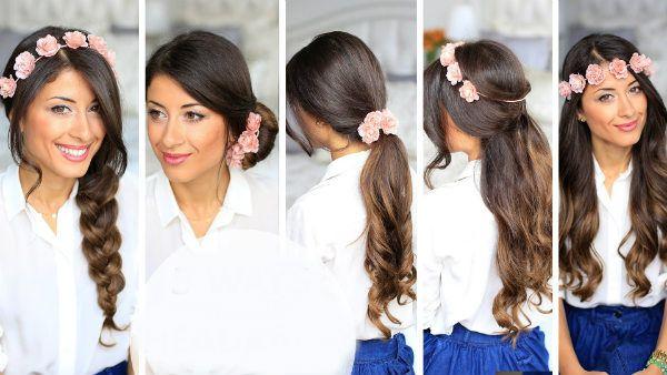 Зачіски з квітами фото