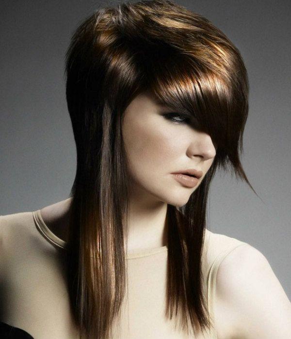 Асиметрія на середні волосся 2 фото