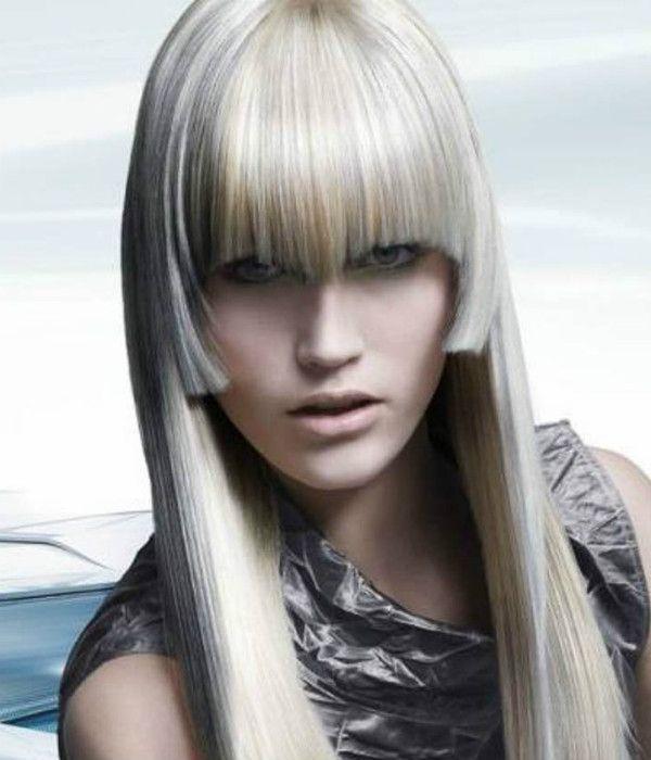 Асиметрія на довге волосся фото