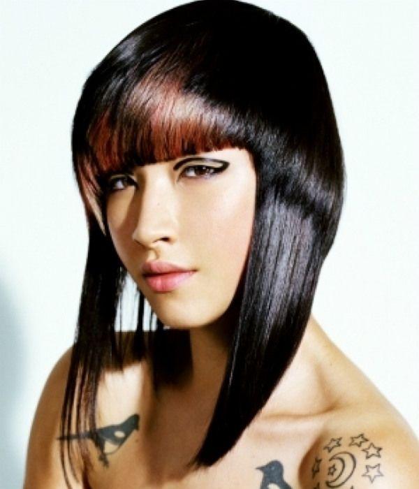 Асиметрія на середні волосся фото