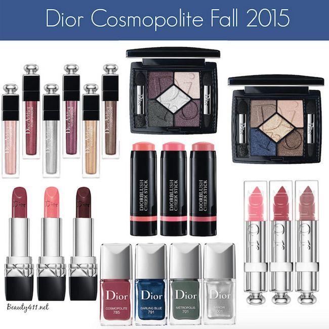 Осіння колекція макіяжу діор 2015 «cosmopolite» - свотч