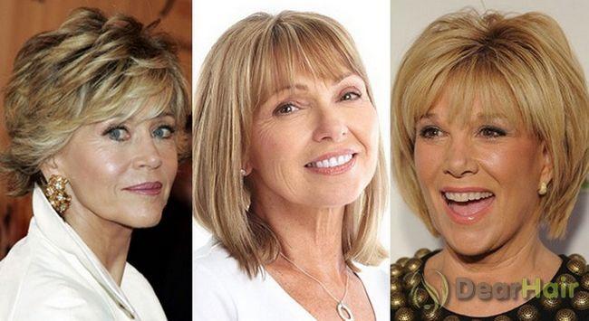Види зачісок для жінок за 50