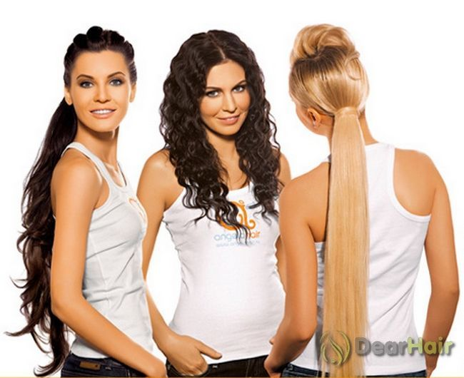 Популярні зачіски із застосуванням накладних пасм