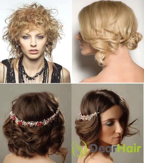 Святкові зачіски для дівчат із середньою довжиною волосся