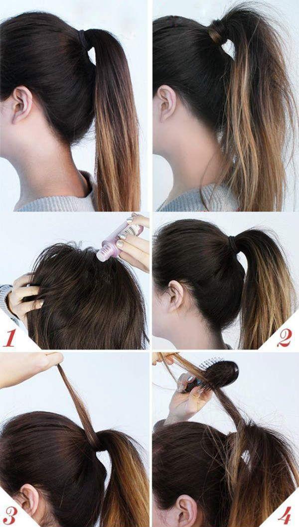 Пасмо волосся замість гумки фото