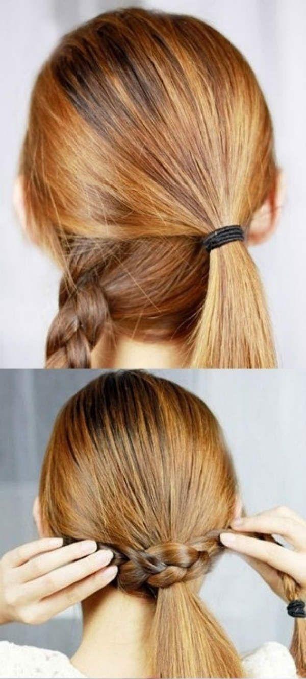 Коса замість гумки 1 фото