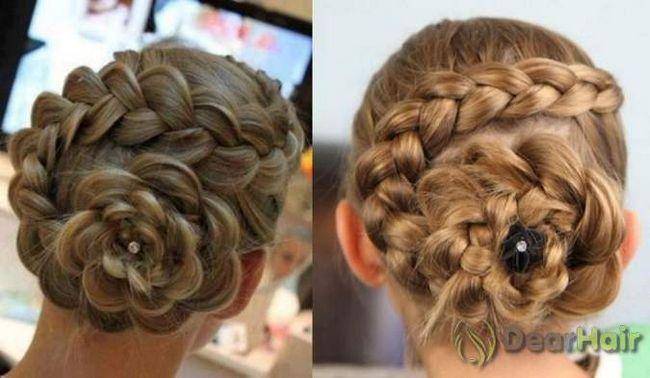 Зачіски у вигляді квітів - легко зробити самим