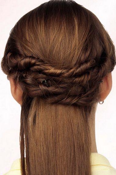 Зачіски джгути на довге волосся