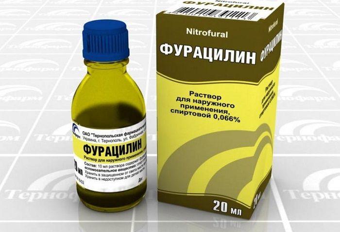 Застосування фурациліну від пітливості ніг