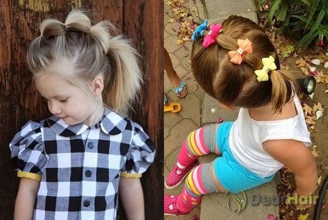 Сучасні зачіски маленьким дівчаткам і молодим дівчатам