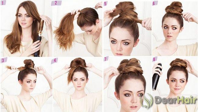 Створюємо зачіску для середньої довжини волосся самі