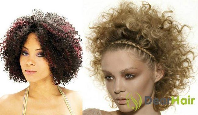 Стильна і проста зачіска за допомогою кучерів в стилі «афро»