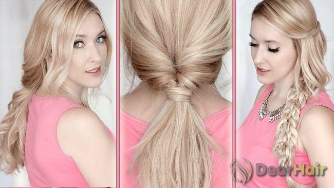 Стильні, швидкі і креативні зачіски для довгого волосся