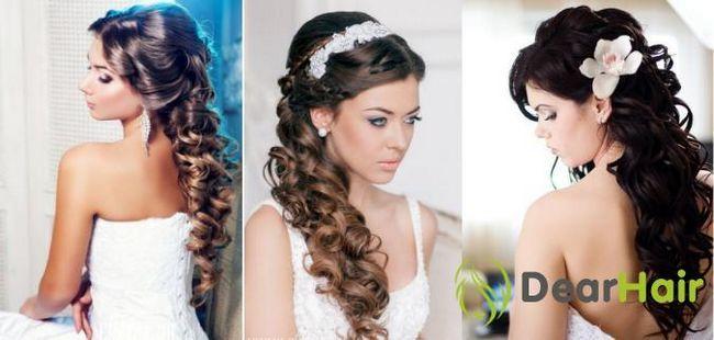 Весільна зачіска з пасмами на трессах