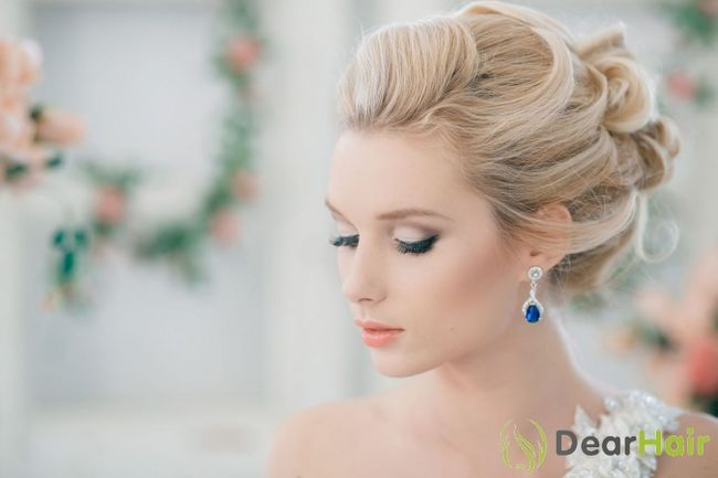 Весільні зачіски для средневолосих наречених з фатою