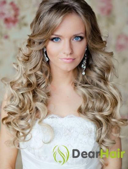 Весільні стильні зачіски з розпущеним волоссям - універсальний варіант