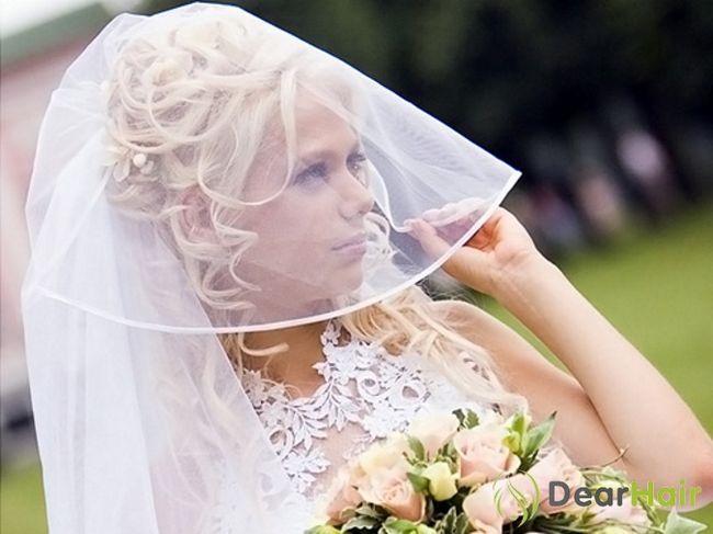 Весільні зачіски на довге волосся з фатою: найрізноманітніші ідеї