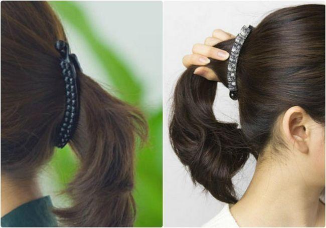 Варіації зачісок з шпилькою «банан»: стильно і просто