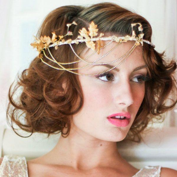 Грецька зачіска для короткого волосся фото