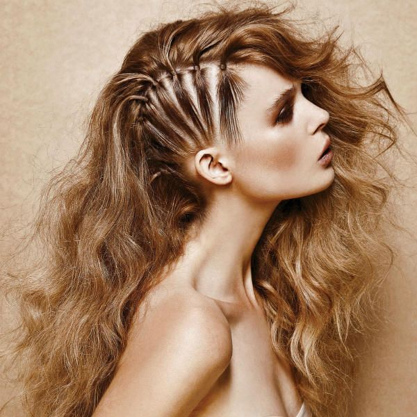 Креативні зачіски на довгих 1 фото