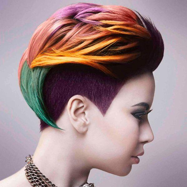 Креативна стрижка на коротке волосся фото