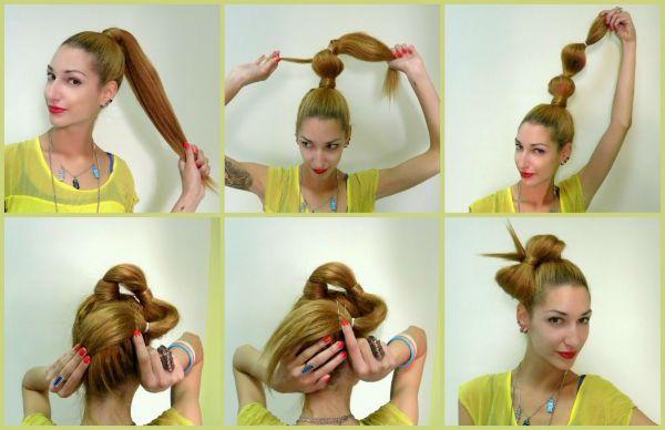Бант з волосся 2 фото