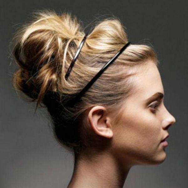 Об`ємна зачіска з обідком 2 фото