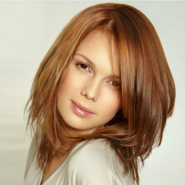 Каскад на середніх волоссі фото